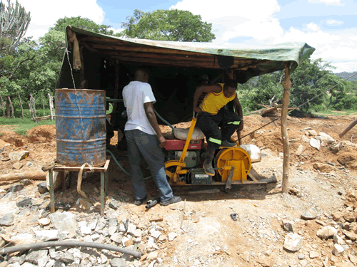 A small hoist at one of the gold mines in Ngundu, Masvingo