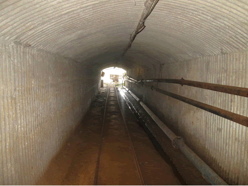 An internal view of an adit at one of the mines in Masvingo